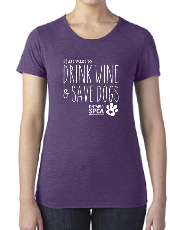I Just Want to Drink Wine and Save Dogs TShirt