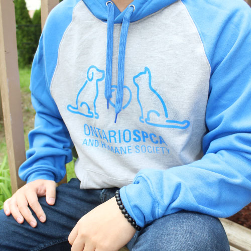 Click here for more information about NEW Ontario SPCA and Humane Society Hoodie